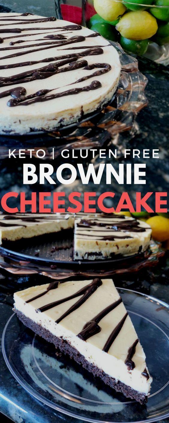 I found the perfect recipe: Keto Brownie Cheesecak…