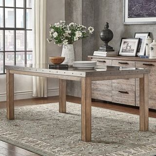 Shop for Cassidy Stainless Steel Top Rectangle Dining Table by iNSPIRE Q Artisan. Get free shipping at Overstock.com - Your Online Furniture Outlet Store! Get 5% in rewards with Club O! - 20291190