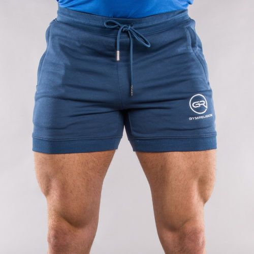 Mens Gym Religion Shorts Muscle Bodybuilding Training Running Blue - S M L XL | Shorts | Men's Clothing - Zeppy.io