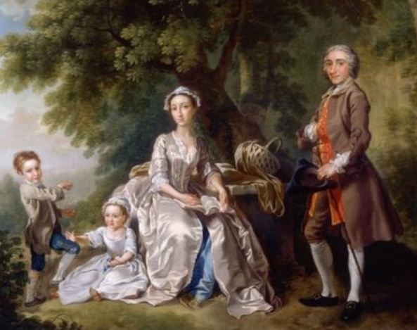1740 The Grant Family By Francis Hayman 18th Century Family Portraits Portrait