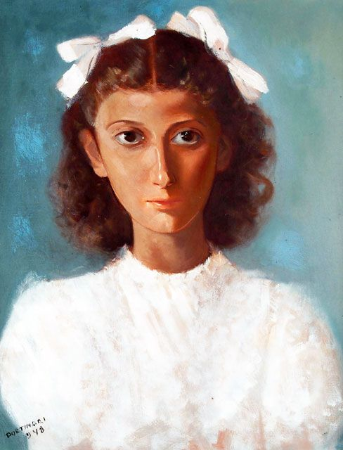 Retrato de Leda Tavares, 1948 by Candido Portinari (Brazilian 1903-1962)