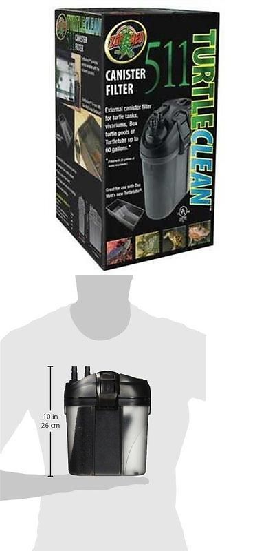 Reptile Supplies 1285: Zoo Med 511 Turtle Clean Canister Filter New BUY IT NOW ONLY: $69.47