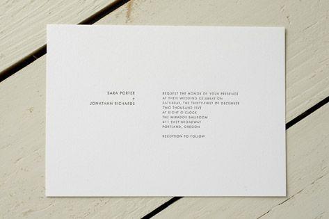 Wonderfully minimal invites - b photo on left, info on right ?