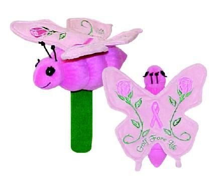 Breast cancer golf club headcovers
