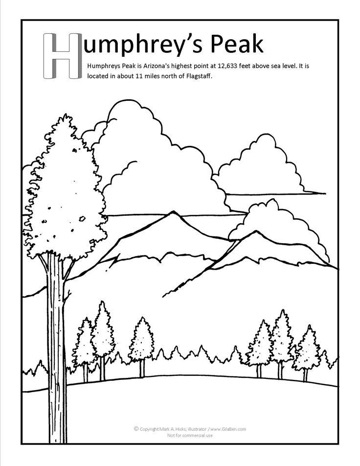 Humphrey Peak Coloring Page At GilaBen