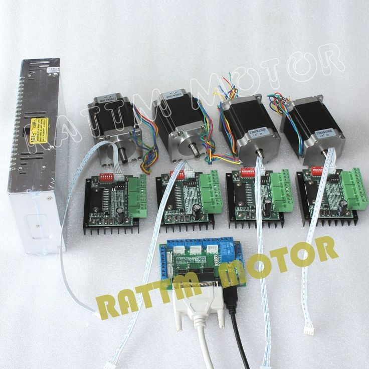 122.00$  Watch here - http://alitt7.worldwells.pw/go.php?t=32443449184 - 4 Axis CNC Router Kit! 4pcs 1 axis TB6560 driver & interface board & 4pcs Nema23 270 Oz-in stepper motor & 250W Power supply