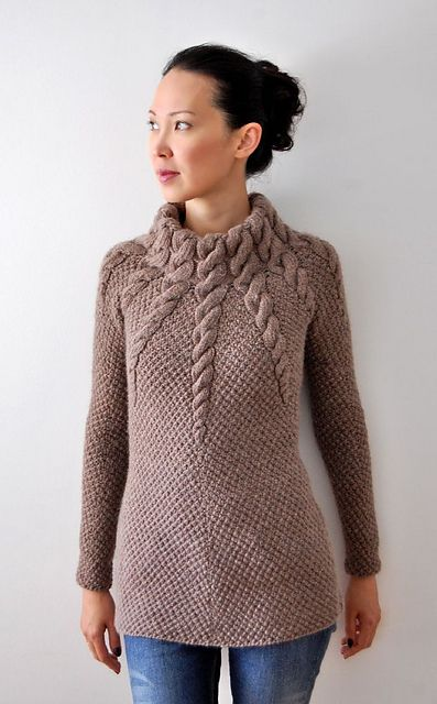 Ravelry: Twelve Cables Pullover pattern by Ashley Rao