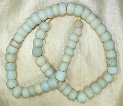 Rare Dutch Milk 'Oparte' style glass Dogon Beads |  From the late 1700s, and made by the Dutch specifically to trade with the Dogon tribe in Mali.