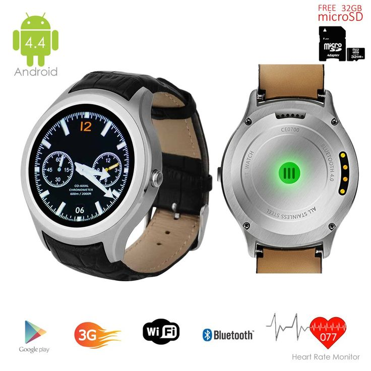 Indigi New 2016 3G Smart Watch Cell Android 4.4 WiFi GPS GSM Unlocked - FREE 32gb SD!. 1.54-inches Android 4.4 OS 3G Smart Watch Phone Wrist Watch + GSM Wireless 3G SmartPhone (Call as mobile phone) with Google Play Store and Capacitive Multi-Touch Screen. GSM Mobile Cell Phone - Support 3G GSM QuadBand: GSM 850/900/1800/1900MHz WCDMA 850/2100MHz|Make and receive calls directly from the watch itself with the built-in MIC and speaker. Powered by MTK6577 DualCore Processor 1.0GHz CPU, 4GB...