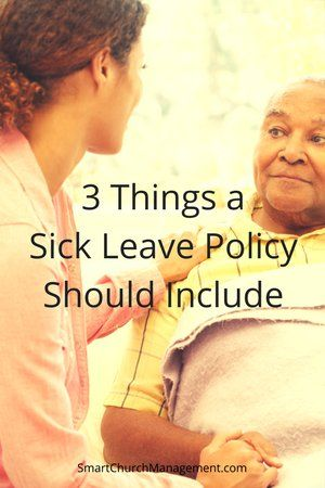 Know the Top 3 Things a Sick Leave Policy Should Include | Smart Church Management