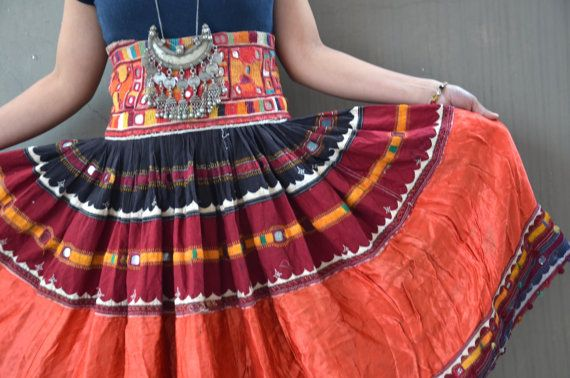 Banjara gypsy dance skirt patchwork embroidered by Faerymother