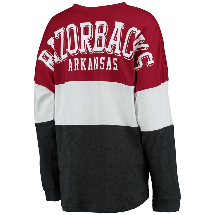 Arkansas Razorbacks Women's Tri-Sweeper Long Sleeve T-Shirt - Cardinal