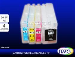Set de 4 Cartuchos Alternativos Recargables HP 711 - disponibles http://www.suministro.cl/hp_920_hp_364_hp_564_hp_178_p/5503020012.htm