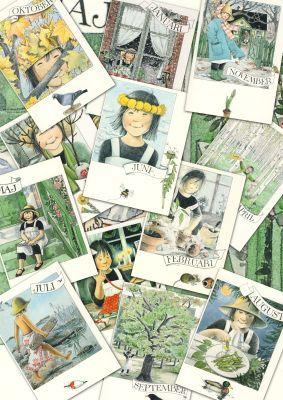 Sagro - Verlag: Lena Anderson. Linea-Monatskarten - 12er Set