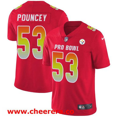 aad295a68  53 Maurkice Pouncey Red Nike NFL Game Men s Jersey Pittsburgh Steelers 2018  Pro Bowl