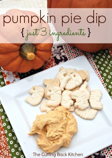 Pumpkin Pie Dip - a delicious dip made in about 3 minutes with just 3 ingredients!  Easy and delicious!: