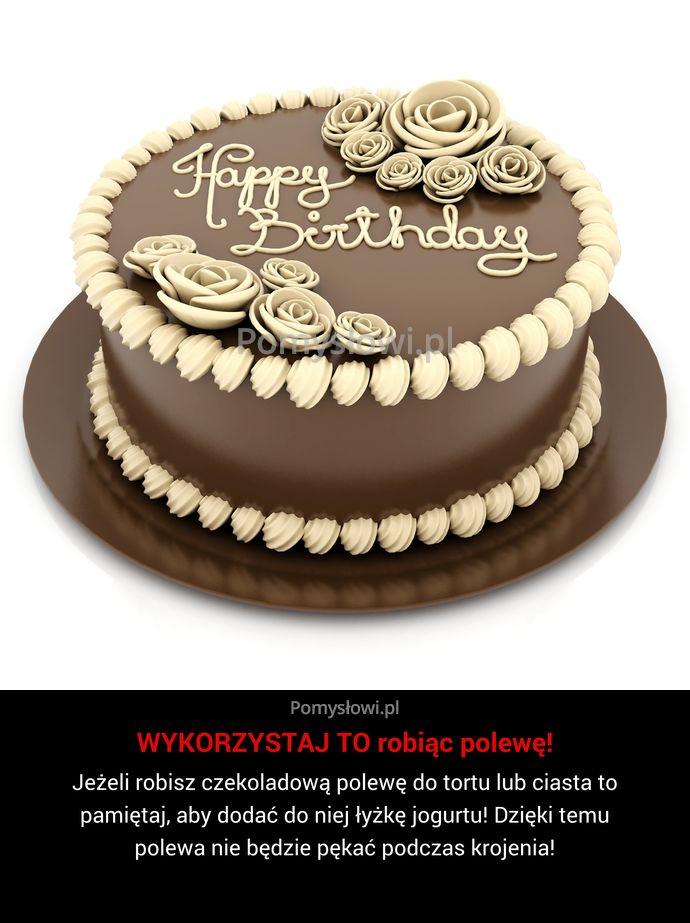 Jeżeli robisz czekoladową polewę do tortu lub ciasta to pamiętaj, aby dodać do…