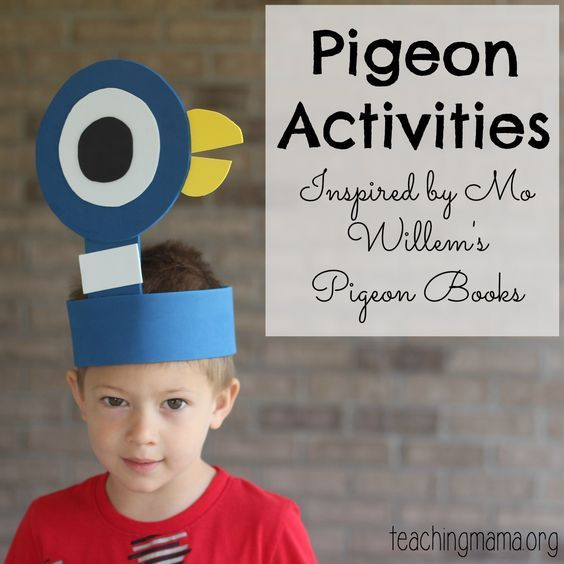 A collection of hands-on Pigeon activities for kids — inspired by Mo Willems' books!