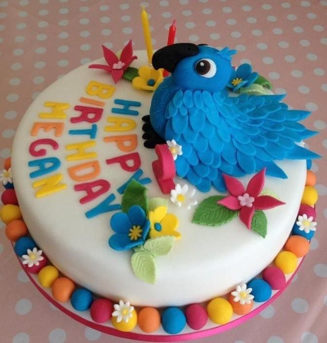 Cake With Fondant Bird : 396 best images about Bird Cakes on Pinterest Owl cakes ...
