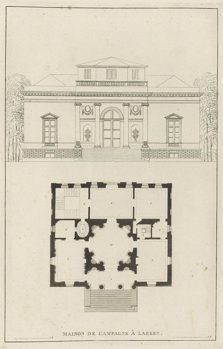 Goetghebuer 1827 Choix Des Monuments 014 Maison De Campagne Laeken Jpg Drawing Architectureclassical Architecturewooden Housearchitectural