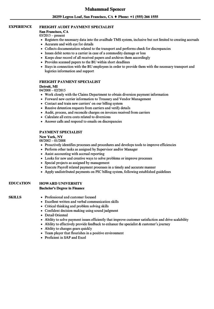 19+ Accounts payable specialist resume templates Resume Examples