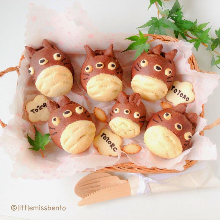 Little Miss Bento  シャリーのかわいいキャラベン: Totoro Melon Pan Bread Recipe トトロのメロンパン作り方・レシピ