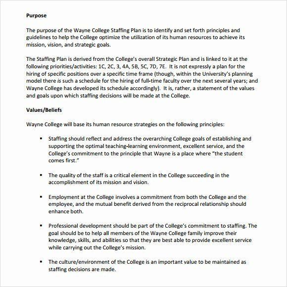 staffing plan template word fresh sample staffing model 6