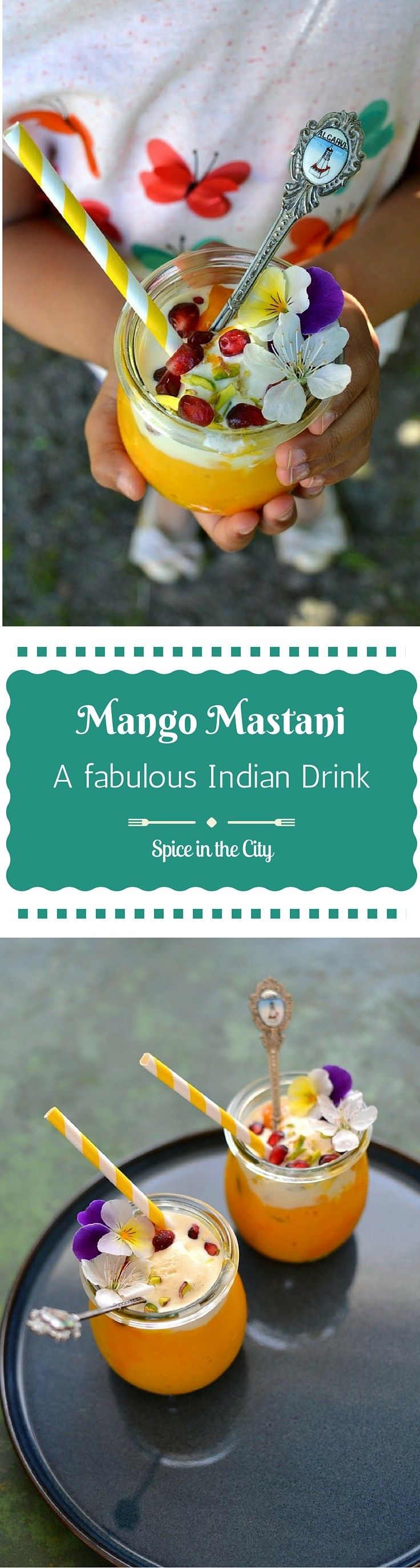 Mango Mastani: A fabulous, decadent & gorgeous Mango drink named after a legendary beauty from Western India! It is the perfect refreshmentfor an Indian Summer | Spice in the City