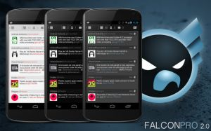 Falcon For Update it shed 2.0 For those who already own the Falcon application, please wait updatenya. Well, for those who have not, the application will appear in the Google Play Store shortly, as twit from @ falcon_android following twitter account