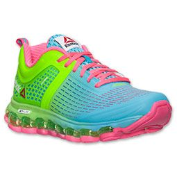 I see these in my future-->Women's Reebok ZJet Run Running Shoes  | Finish Line | Neon Blue/Solar Green