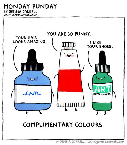 Complimentary colours (Gemma Correll)