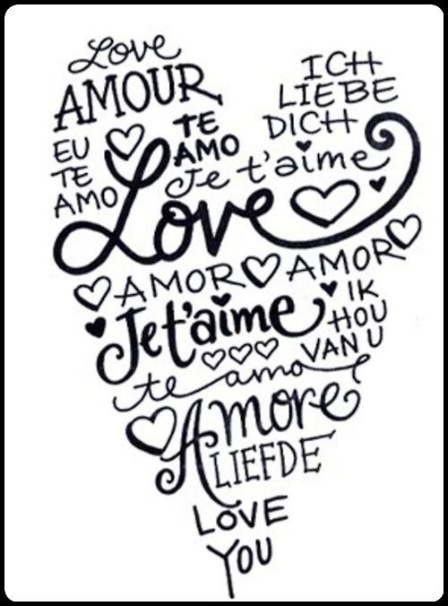 Amore❤ (Love in other languages) travel theme
