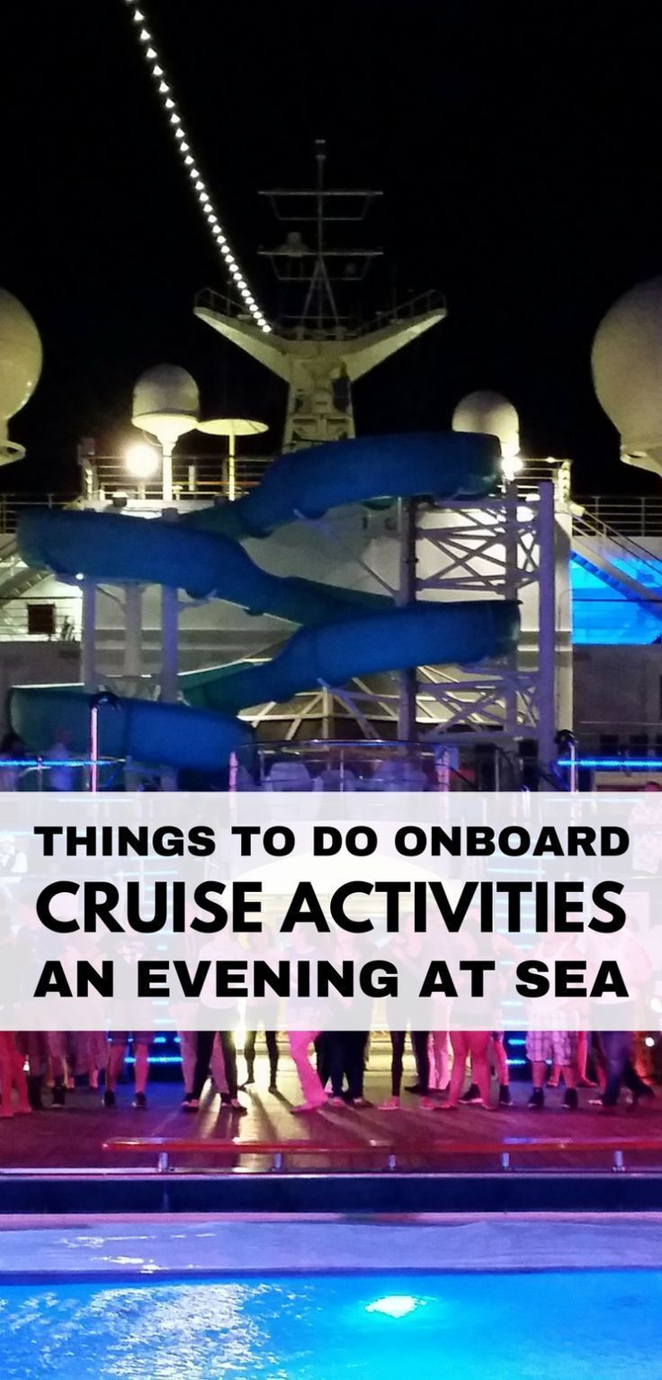 Things to do on a cruise at sea and free fun evening activities at night on a cruise ship for teens, adults, and families! Helpful cruise tips for first-time cruisers to get ideas on what to do on cruise with entertainment shows, comedy, theater, teen club. Add to checklist when also making list of what to pack and what to wear on a cruise! ;) Picture: Carnival cruise in Caribbean... #cruise #cruisetips #cruisetipscaribbean