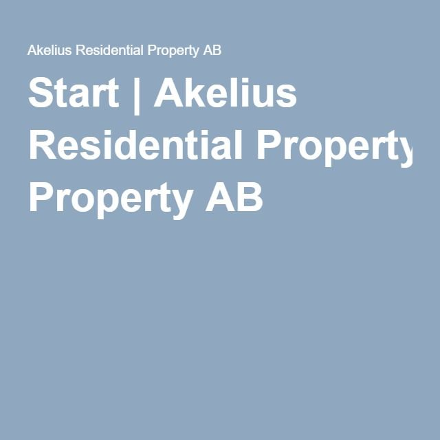 Start | Akelius Residential Property AB