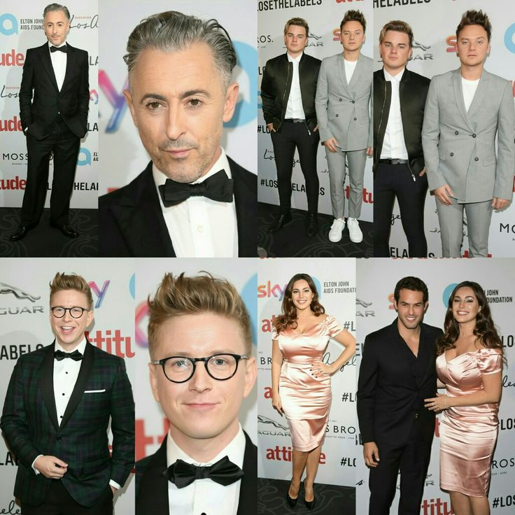 #AlanCumming, #JackMaynard (with #ConorMaynard), #TylerOakley and #KellyBrook (with boyfriend #JeremyParis) at the #AttitudeAwards on Monday night in London. • • • • • • • • • • • • • • • • • • • • • • • • • #AlanCumming, #JackMaynard (com #ConorMaynard), #TylerOakley e #KellyBrook (com o namorado #JeremyParis) no #AttitudeAwards na noite de segunda-feira em Londres.