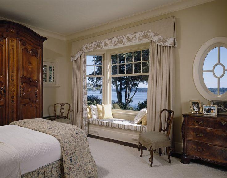 Bay window seat bedroom traditional with window seat bay window
