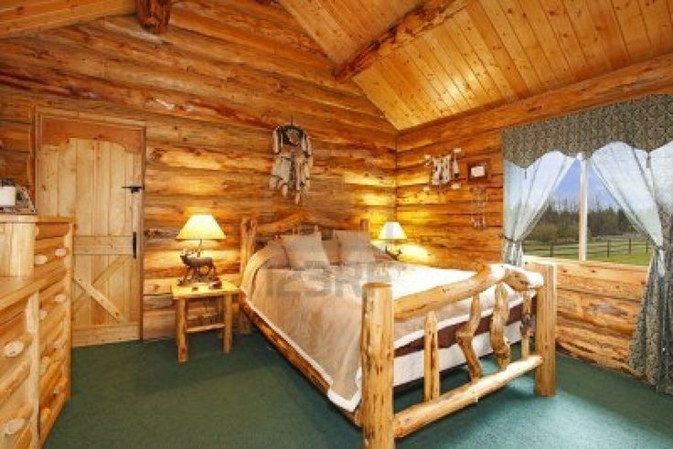 Log Cabin Bedroom With Antique Wood Idea Housearquitectura