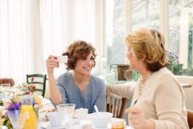 The Imperative Mood in Italian: Italian mother and daughter at table