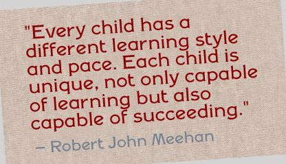 Image result for every child has a different learning style and pace