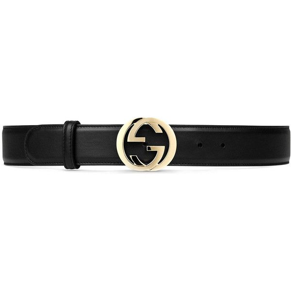 Gucci Leather belt with interlocking G buckle (16,210 PHP) ❤ liked on Polyvore featuring accessories, belts, black, buckle belt, gucci belt, gucci, leather buckle belt and leather belt