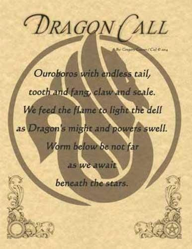 DRAGON CALL Parchment Page for Book of Shadows – Witchy