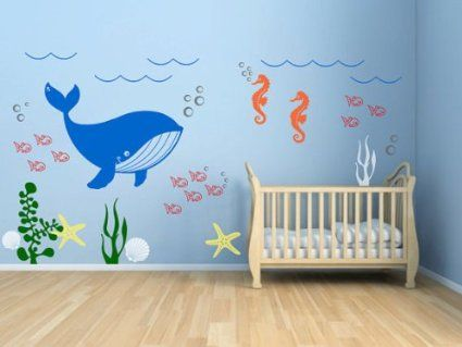 Amazon.com - Kids Room Vinyl Wall Decal Underwater Theme Seaweed ...