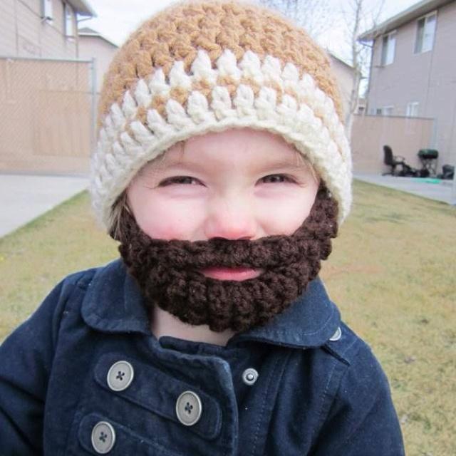 Kids beard beanie. | Lace And Daisy Chains | Pinterest