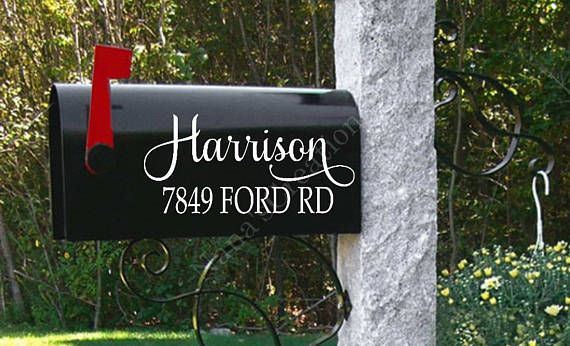Personalized Mailbox-Mailbox Decal-Custom Mailbox Decal-Name