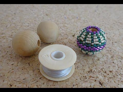 Tutorial: Como forrar bolas a peyote - YouTube