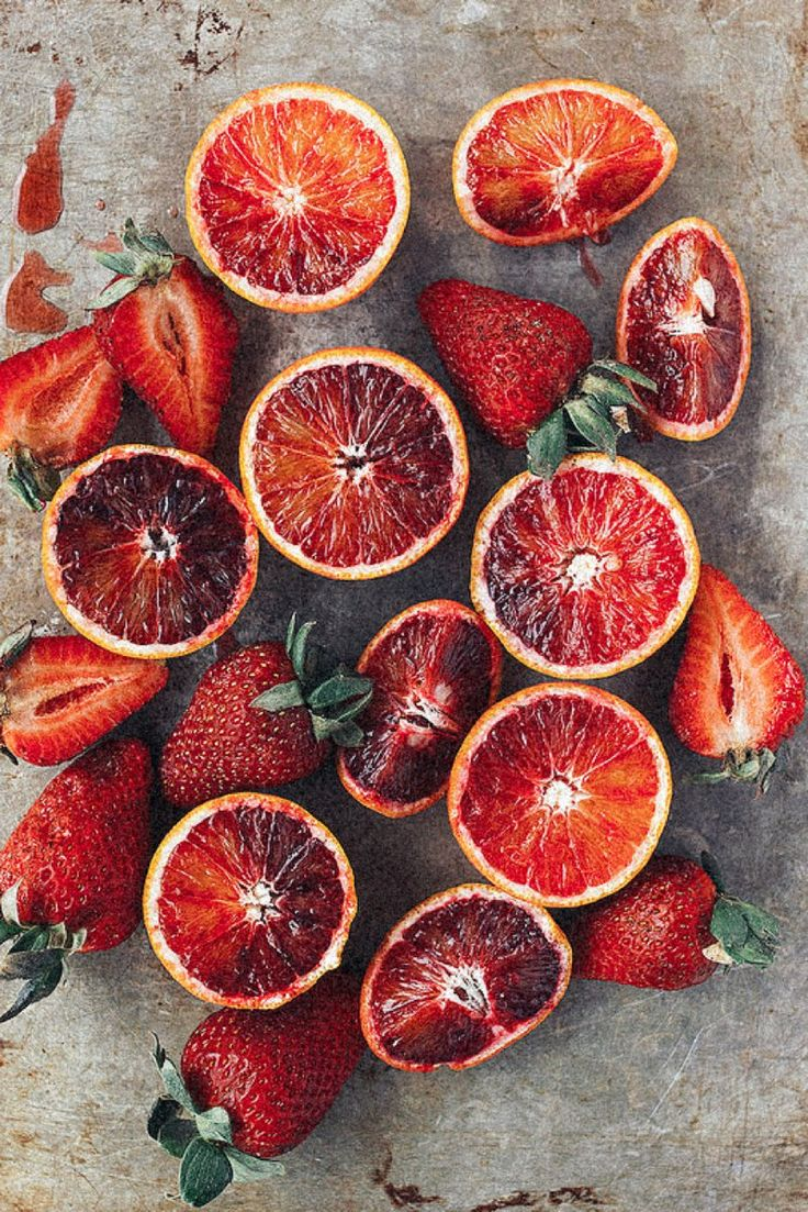 Blood Orange & Strawberries | TESSA BARTON