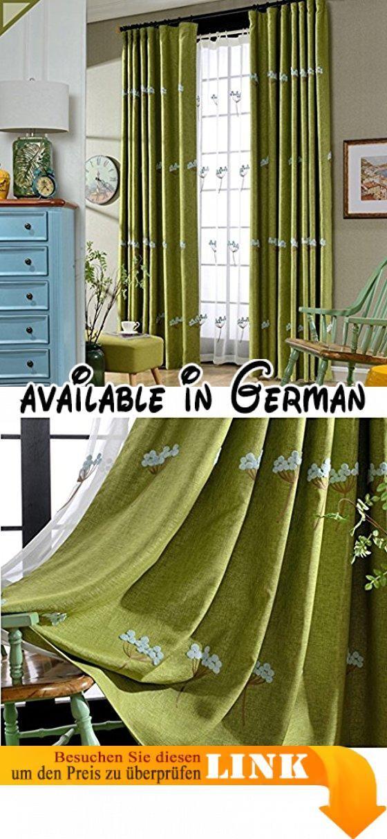 Die besten 25+ Grüne ösenvorhänge Ideen auf Pinterest Grün - gardinen wohnzimmer grun