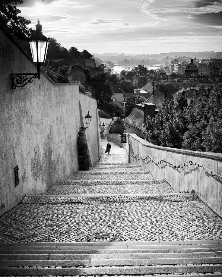 Staré Zámecké schody. Snímek č. 03 z výstavy v Malostranske Besedě 2016. #photography #photo #fotografie #foto #exhibition #vystava #bw #blackandwhite #prague #praha #malostranskabeseda