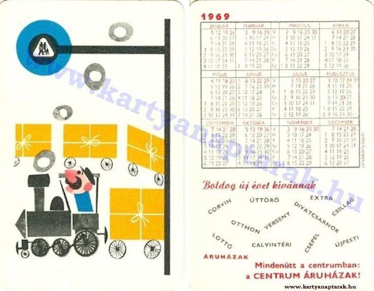 1969 - 1969_0319 - Régi magyar kártyanaptárak
