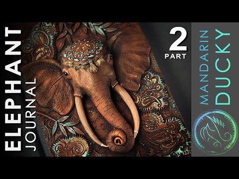 ELEPHANT JOURNAL TUTORIAL Part 2 - polymer clay by Mandarin Duck - YouTube